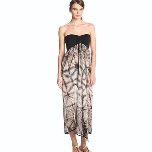 NWOT Raviya Strapless Tie-dyed Sheer Printed Dress